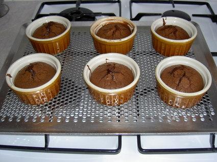 Recette de fondant au chocolat en verrines