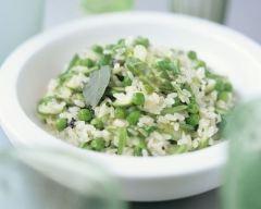 Recette risotto aux petits pois et aux asperges