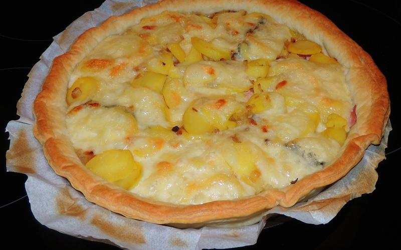 Recette tarte raclette d'aurélie économique et simple > cuisine ...