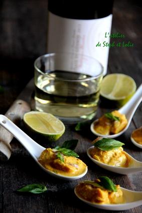 Recette de bouchées de curry thaï jaune au cabillaud