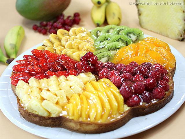 Tarte aux fruits frais  fiche recette avec photos  meilleurduchef.com