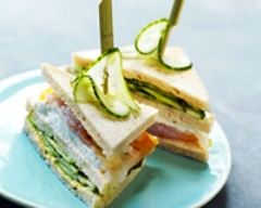 Recette club sandwich concombre, mozzarella, haddock