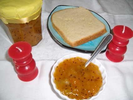 Recette de confiture abricots et kiwis