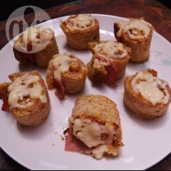 Recette roulés de pain au jambon et fromage – toutes les recettes ...