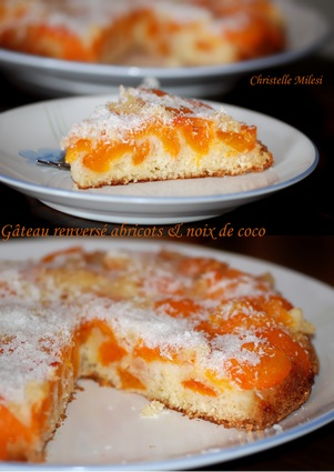 Recette de gâteau renversé abricots et noix de coco