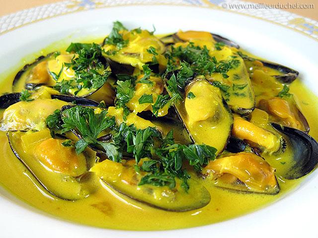 Moules au safran  fiche recette avec photos  meilleurduchef.com
