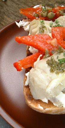 Recette de tartine de kiri à la provençale