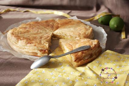 Recette de galette des rois frangipane citron vert, fleur d'oranger et ...