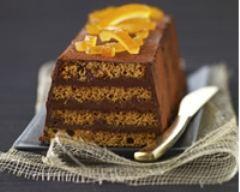 Recette bûche de pain d'épices au chocolat et orange confite