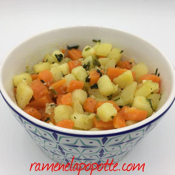 Recette salade carottes  pommes de terre à la marocaine
