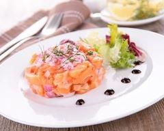 Recette tartare de saumon frais à l'échalote
