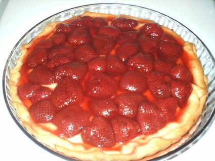 Recette de tarte aux fraises au rhum