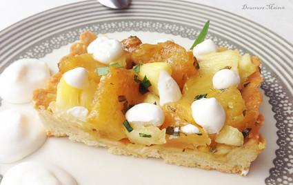 Recette de tarte ananas coco estragon