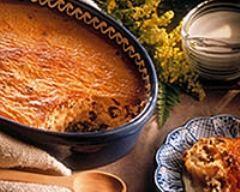 Recette pudding au riz et aux raisins secs