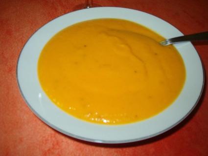 Recette de velouté de carottes au gingembre