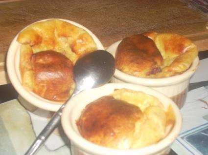 Recette de soufflés au fromage et aux lardons