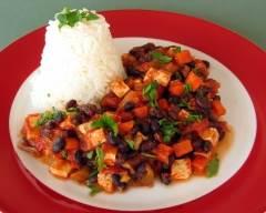 Recette chili végétarien au tofu pauvre en sel