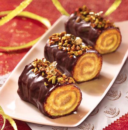Recette de mini-bûche de noël chocolat-crème de marron à la ...