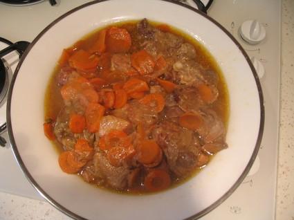 Recette de sauté de veau aux carottes