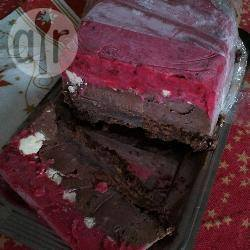 Recette bûche glacée chocolat framboise au coeur meringué (noël ...