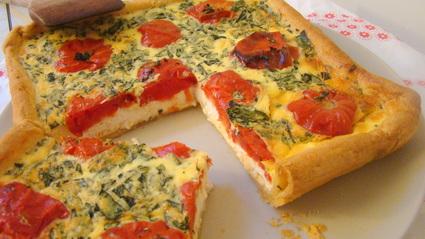 Recette de tarte salée tomates ricotta