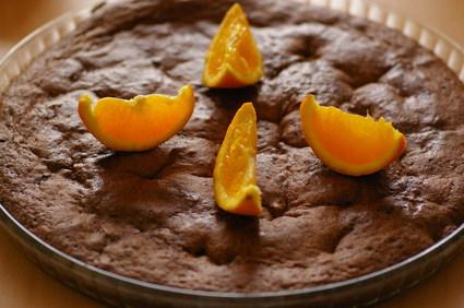 Recette de fondant au chocolat aux écorces d'oranges confites
