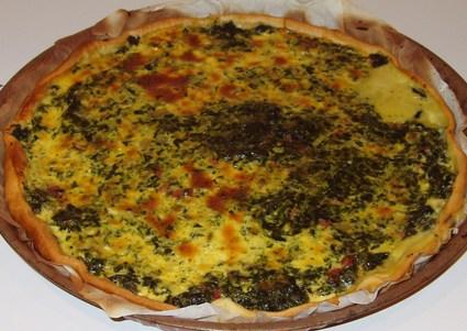 Recette de tarte aux épinard et fromage fondu