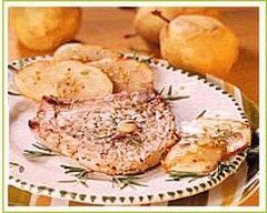 Recette côtes de veau aux pistaches et aux poires