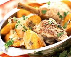 Recette poulet sauté à l'ail et au potiron