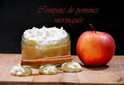 Recette compote de pommes meringuée (compote)