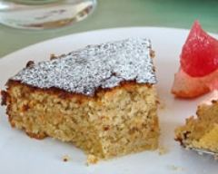Recette gâteau aux amandes, pamplemousse rose et verveine