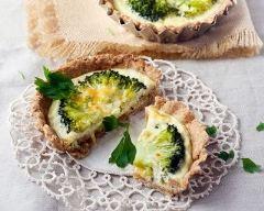 Recette mini quiche au brocoli et crème de parmesan