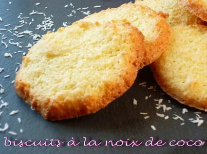 Recette de biscuits à la noix de coco