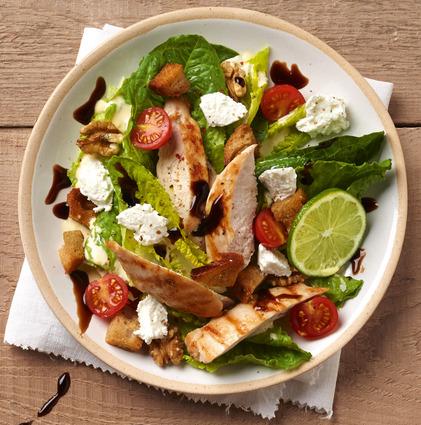 Recette de salade caesar légère au carré frais