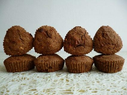 Recette de muffins cacao chicorée pomme coco végan