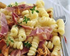 Recette pates au jambon et girolles