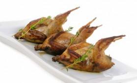 Cailles farcies au foie gras pour 4 personnes
