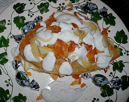 Recette de poires en brick à la chantilly de réglisse et miel