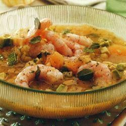 Recette soupe glacée aux crevettes, melon et avocat – toutes les ...
