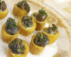 Recette coquetiers de pommes de terre aux escargots et aux deux ...