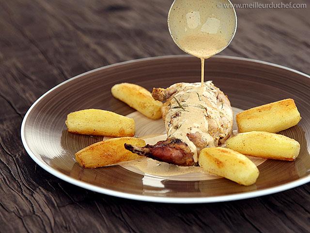 Lapin à la moutarde  fiche recette avec photos  meilleurduchef.com