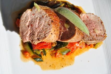 Recette de filet mignon de porc aux légumes