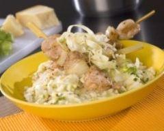Recette risotto et brochettes de poulet