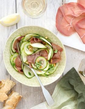 Salade de courgettes à la bresaola pour 4 personnes