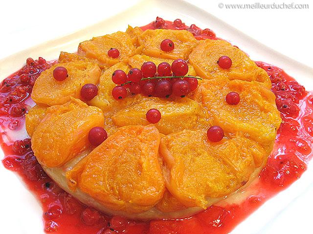 Tarte tatin aux abricots  fiche recette illustrée  meilleurduchef.com
