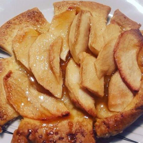 Recette tarte fine aux pommes et sirop d'érable