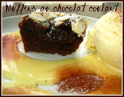 Recette de muffins au chocolat coulant