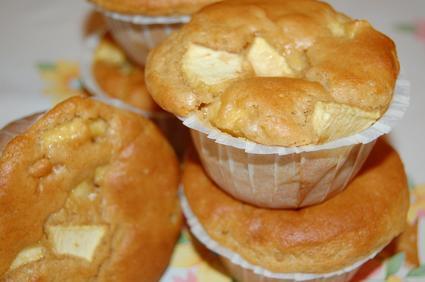 Recette de muffins à la pomme et au beurre de cacahuète