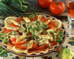 Recette salade de tomates à l'omelette