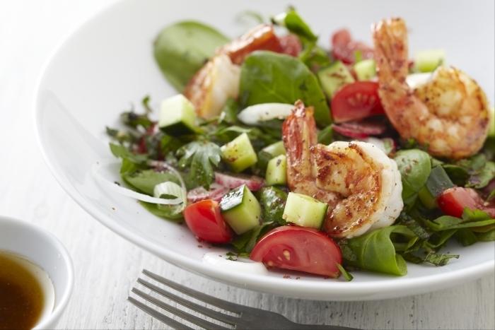 Recette de salade fraîcheur de gambas au sumac facile et rapide